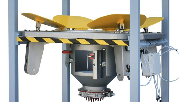industrial mixer discharger