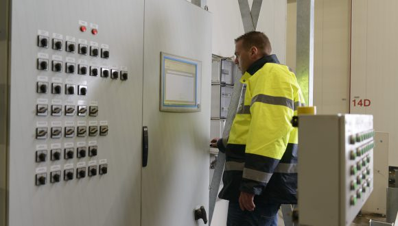 industrial mixing machine control panel