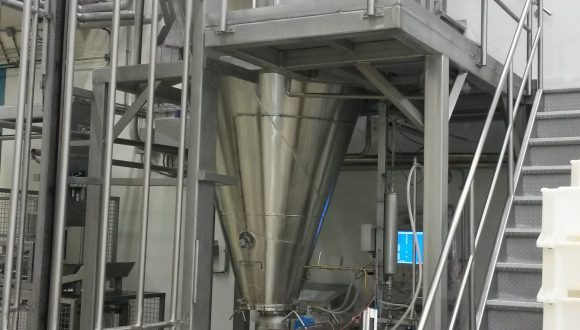 Steel construction for mixing installations conical mixer