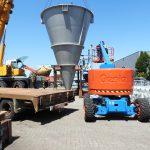 Installation of mixer for bulk materials