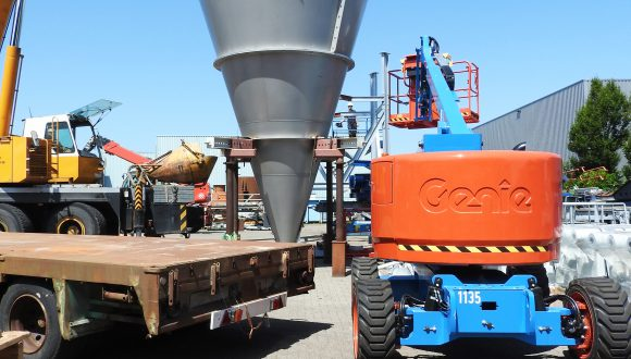 installation of mixer for bulk materials