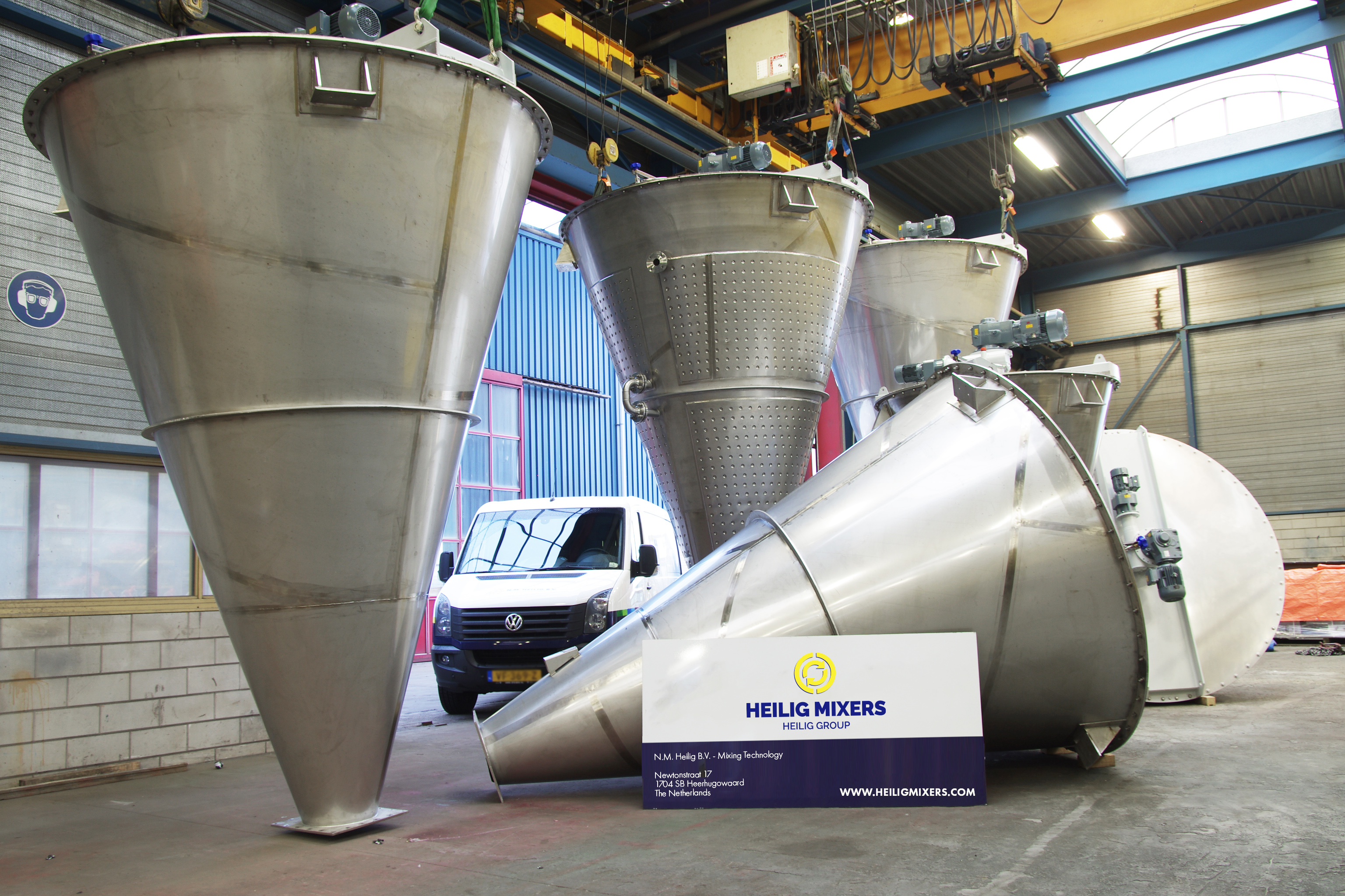 Production industrial mixers