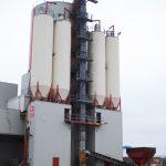 Elevator conveyor concrete plant
