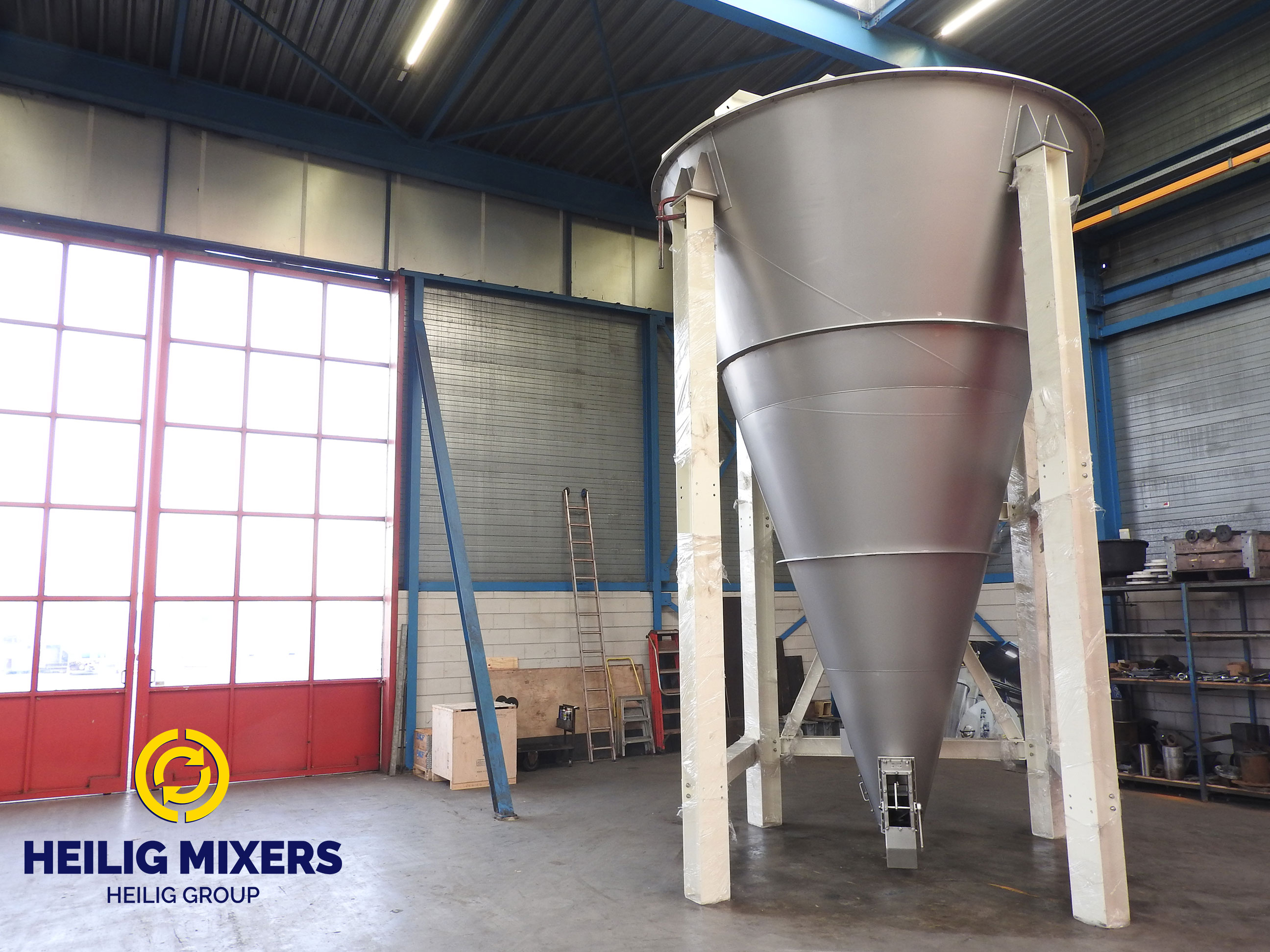 New conical mixer delivery for Heilig Mixing Technology